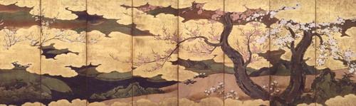 桜・桃・海棠図屏風