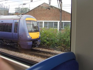 C2C Class 357227 seen from a DLR train