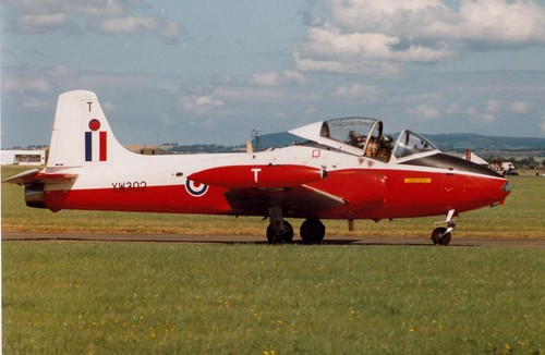 RAF Leeming. July, 1993. RAF. Hunting Jet Provost T5.