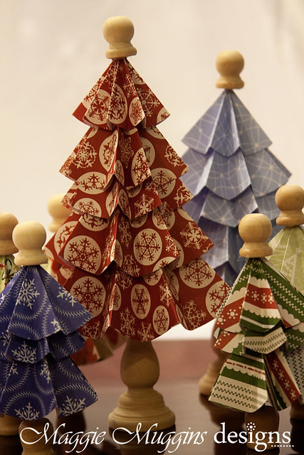 Folded Christmas Tree Craft