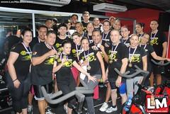 1er Spinning marathon en el Gold's GYM Moca