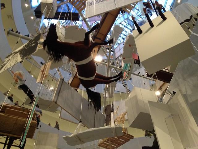 Maurizio Cattelan at the Guggenheim