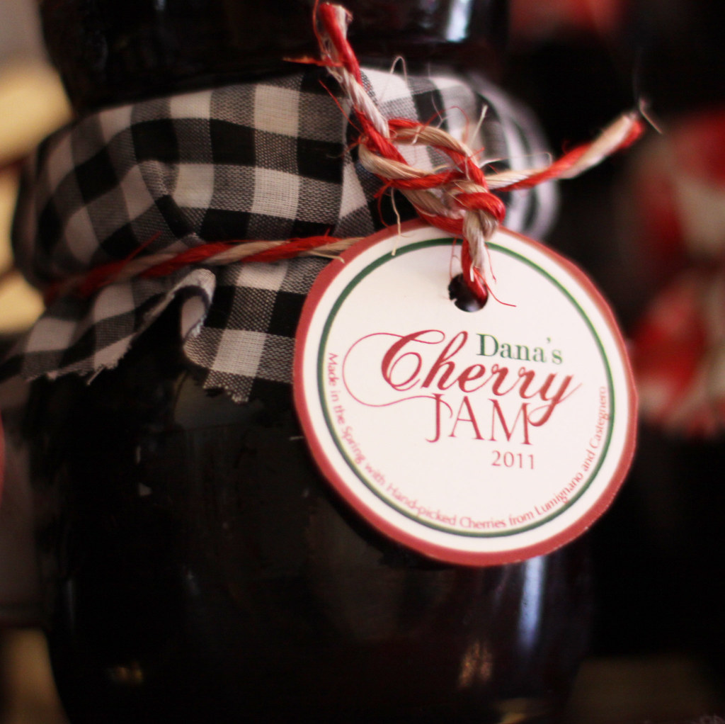 cherry jam label