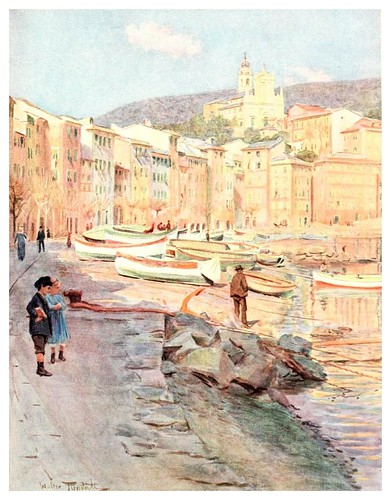 003-Santa Margarita Ligure-An artist in the Riviera (1915)-Walter Tyndale