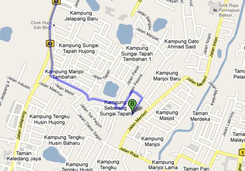 Peta Pusat Pendidikan Al Barakah