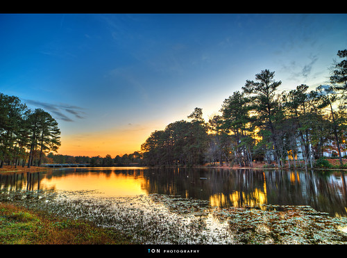 sunset lake sc landscape columbia hdr