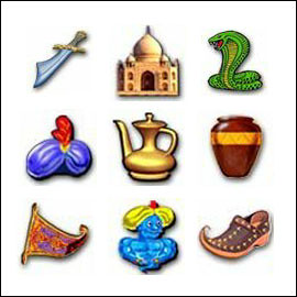 free Aladdin's Lamp slot game symbols