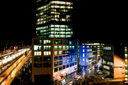 city lights . zurich