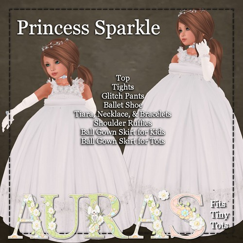 Princess Sparkle in Silver Tissue by Aura Milev