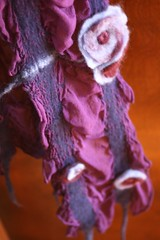 Nuno Felted Scarf - Purples