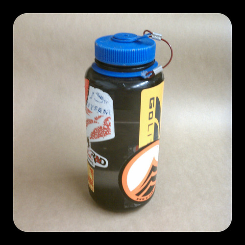 One liter hard-sided Nalgene bottle