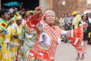 Women rally at the ZANU-PF National People's Conference held in Bulawayo. The revolutionary party and founder of modern Zimbabwe is preparing for elections in 2013. by Pan-African News Wire File Photos