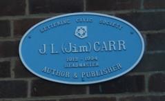 Photo of J. L. Carr blue plaque