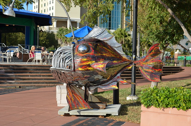 Metal Fish Sculpture