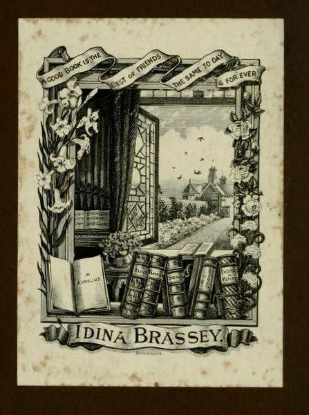 Book label of Idina Brassey