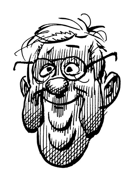 Jack Davis self-portrait
