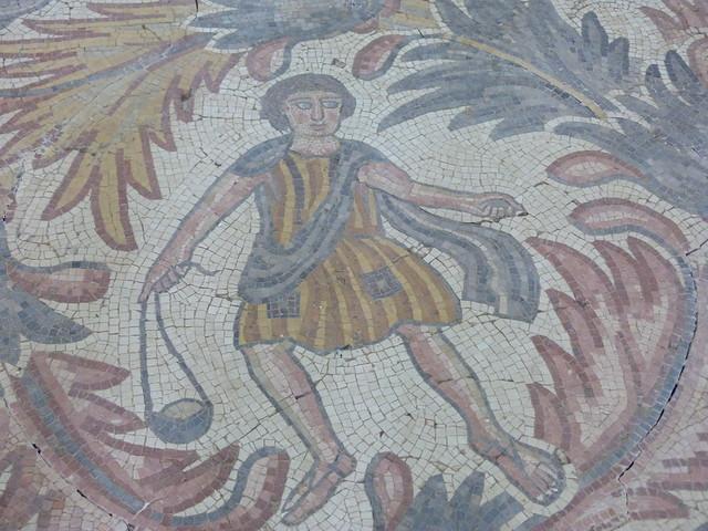 Mosaico bizantino en el Monte Nebo (Jordania)