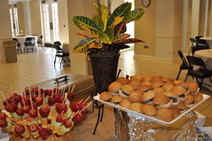 Food display crawford wedding