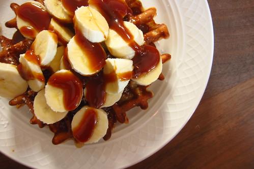 Banana and Caramel Waffle