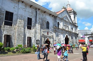 Santo Niño Church from outside in Cebu City in Philippines