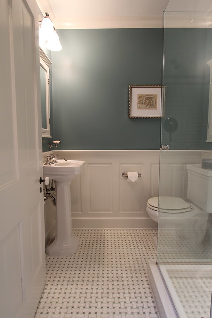 Bathroom wainscoting