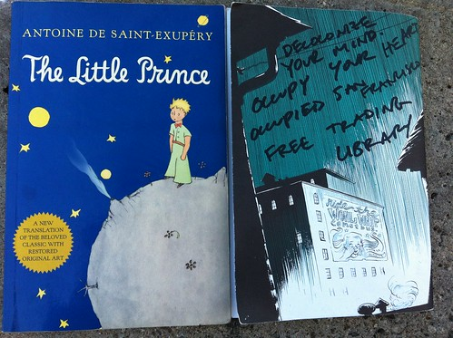Little Prince & Cometbus in free trading library #occupysf #ows #owslibrary