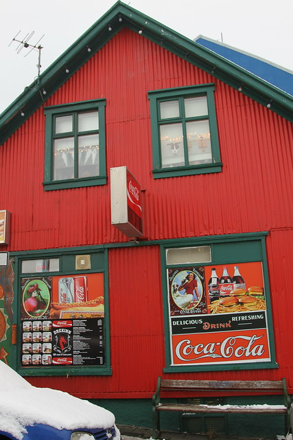 Colorful coke display