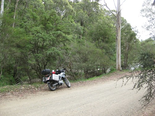 Omeo highway, more gravel, but next to a river
