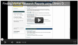 Video on finding market research reports