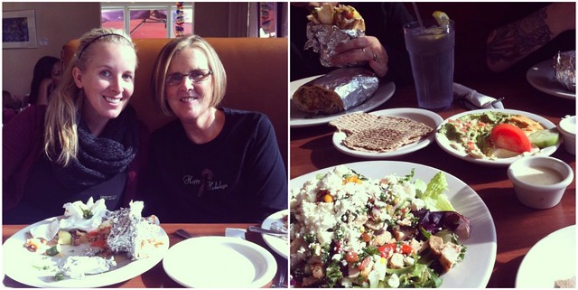 Pita Jungle with Mom and Lauren