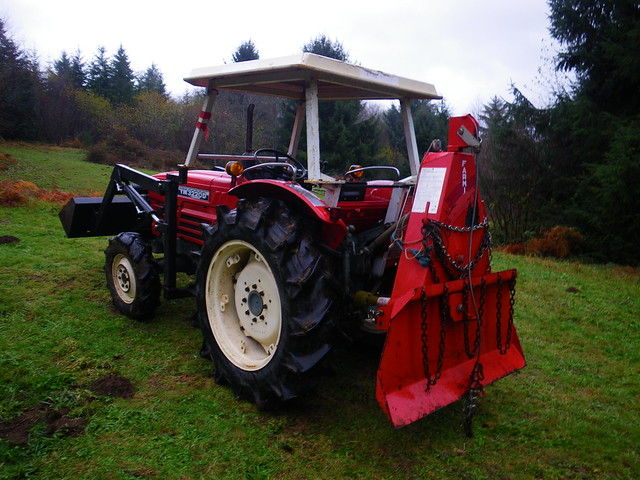 Tractor and Farmi logging winch