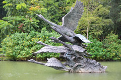 Statue /swans