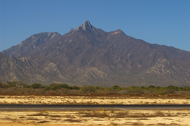 Sierra la Laguna mountain in Mexico