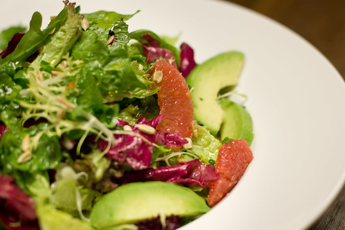 grapefruit and orange avocado salad