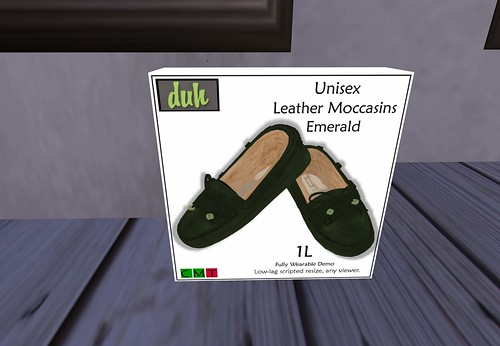 Duh - Unisex Emerald Moccasin, 1 linden by Cherokeeh Asteria