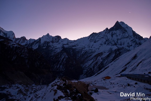 Annapurna Base Camp, Nepal - Waiting For the Sunrise ... Damn it is freezing !
