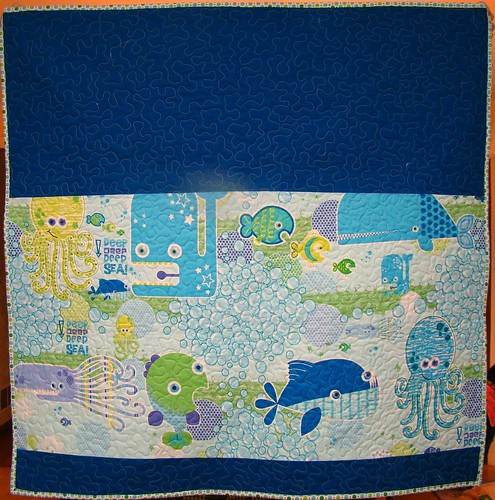 deep deep sea baby quilt