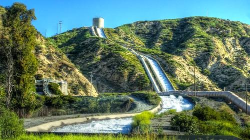 ucla water landscape aqueduct tonemapped mulholland dam cascades cascade