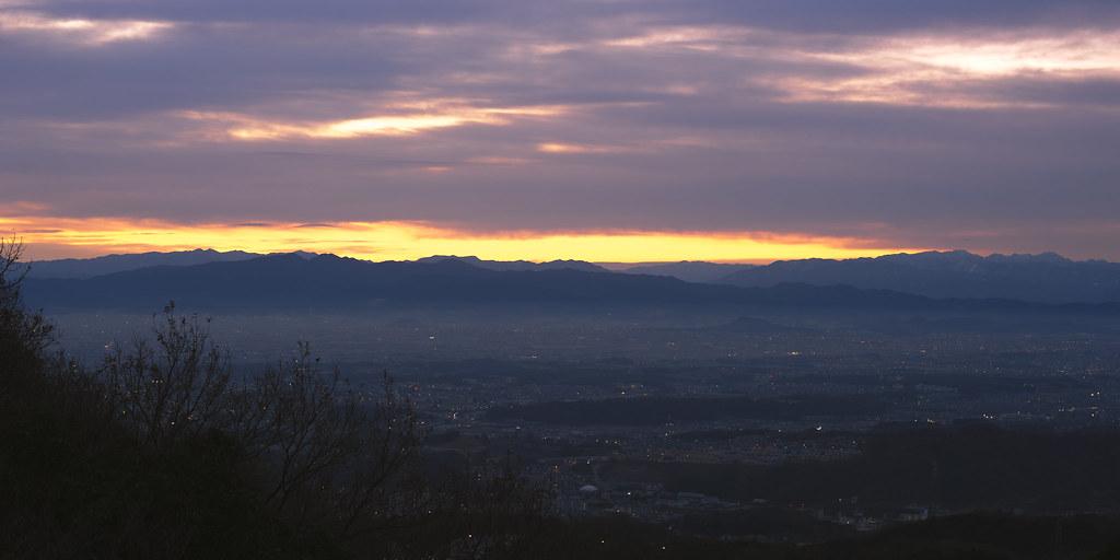 The first sunrise on Mt. Shigi 6:45