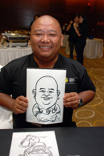 Caricature live sketching for SCORE – Yellow Ribbon Celebrating 2nd Chances 2011 - 14