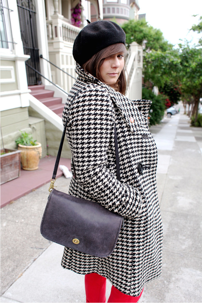 shannonabacus1 vintage, street fashion style, san francisco, shannon, abacus, houndstooth, style spotlight