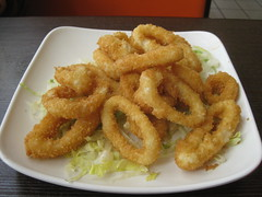 frying, deep frying, fried food, squid, onion ring, food, dish, cuisine, fast food, tempura,