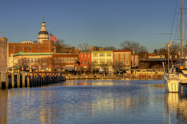 Winter Sunrise at Annapolis City Dock (Ego Alley)