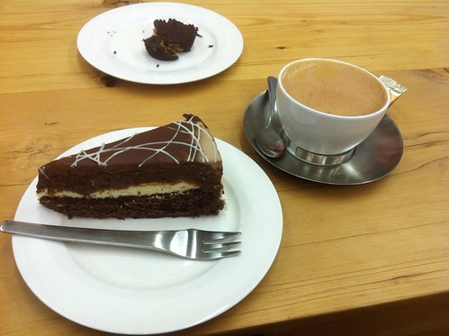 Chocolate Torte Cake and Mochachino by raise my voice