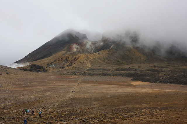 Looking back towards Red Crater of Mt. Tongariro from Central crater