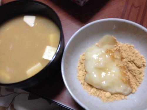 奈良の珍しいお雑煮「きな粉雑煮」をいただきました