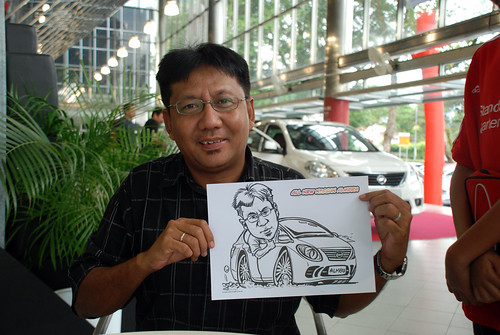 Caricature live sketching for Tan Chong Nissan Almera Soft Launch - Day 1 - 29
