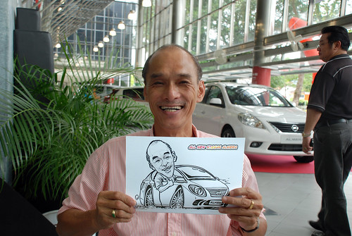 Caricature live sketching for Tan Chong Nissan Almera Soft Launch - Day 2 - 23