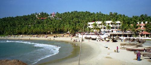 Kovalam beach scene