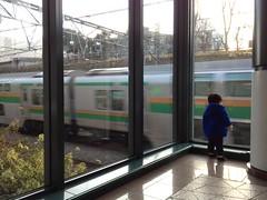 電車を見ています